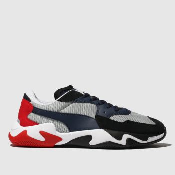 Puma Black & Red Storm Origin c2namevalue::Mens Trainers