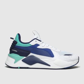 Puma White & Navy Rs-X Hard Drive Mens Trainers