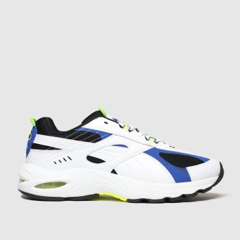 Puma White & Blue Cell Speed Mens Trainers
