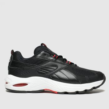puma black & red cell speed trainers