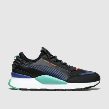 Puma Black and blue Rs-o Trail c2namevalue::Mens Trainers