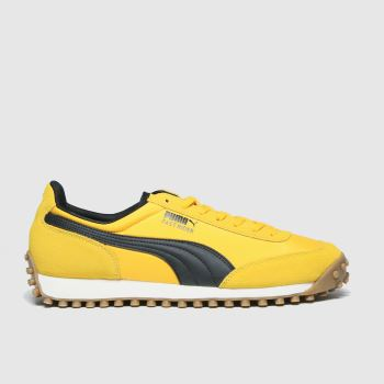 PUMA Yellow Fast Rider Source Mens Trainers