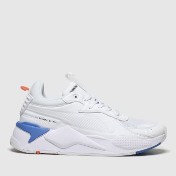 Puma White & Pl Blue Rs-x Master Mens Trainers