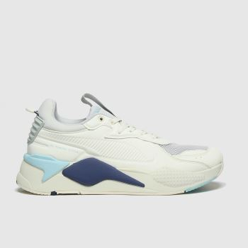 PUMA White & grey Rs-x Master Mens Trainers