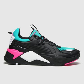 PUMA Black & Green Rs-x Master Mens Trainers