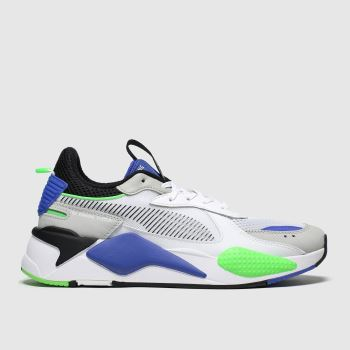 Puma White & Green Rs-x Toys c2namevalue::Mens Trainers