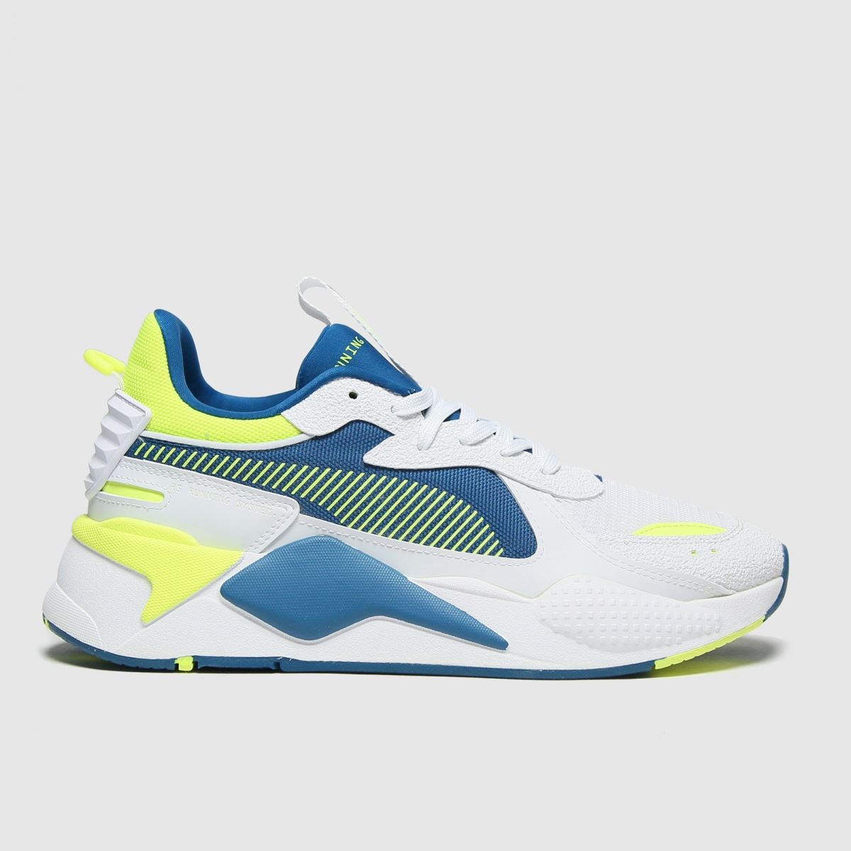 PUMA White & Yellow Rs-x Hard Drive Trainers