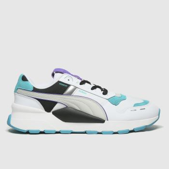 PUMA White & Blue Rs 2.0 Futura Mens Trainers