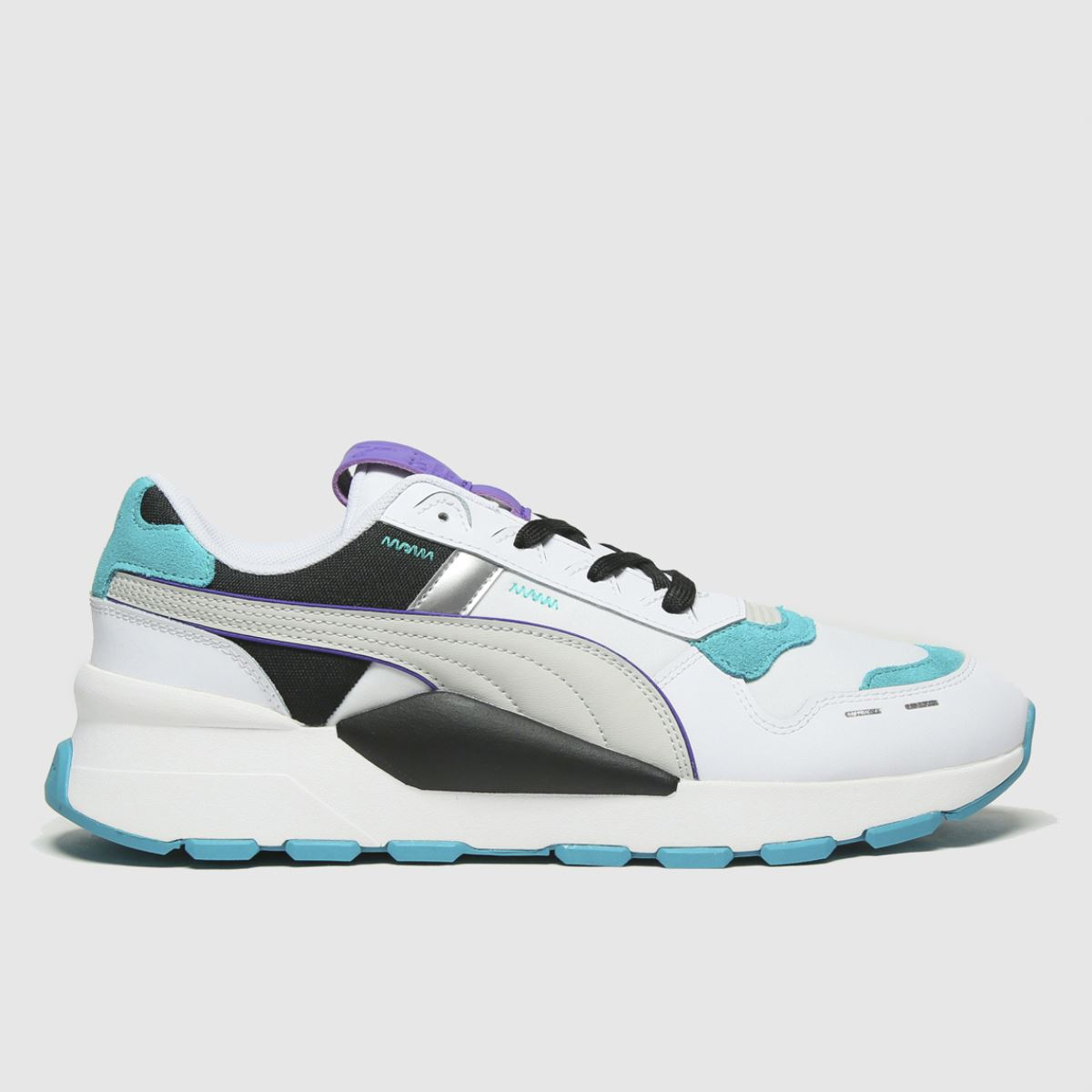 Puma White & Blue Rs 2.0 Futura Trainers