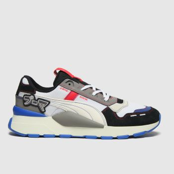 PUMA White & grey Rs-0 Bt Japanorama Mens Trainers