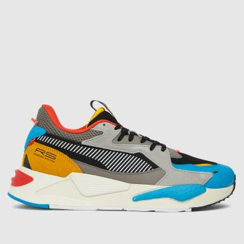 PUMA Black and blue Rs-z Mens Trainers