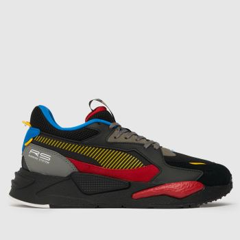 PUMA Black & Red Rs-z Mens Trainers