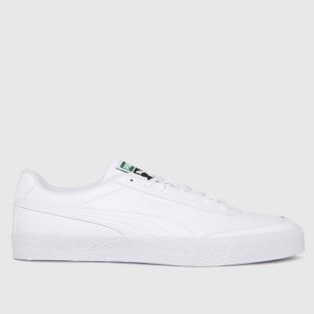 PUMA White Oslo City Volc Mens Trainers