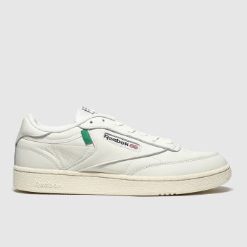 Reebok White Club C 85 c2namevalue::Mens Trainers