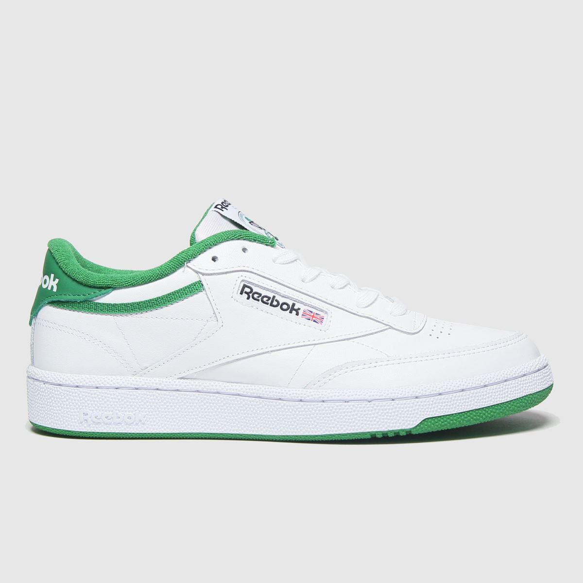 Reebok White & Green Club C 85 Trainers