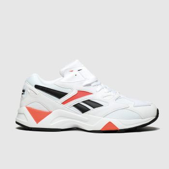 Reebok White & Red Aztrek 96 Reinvented Mens Trainers