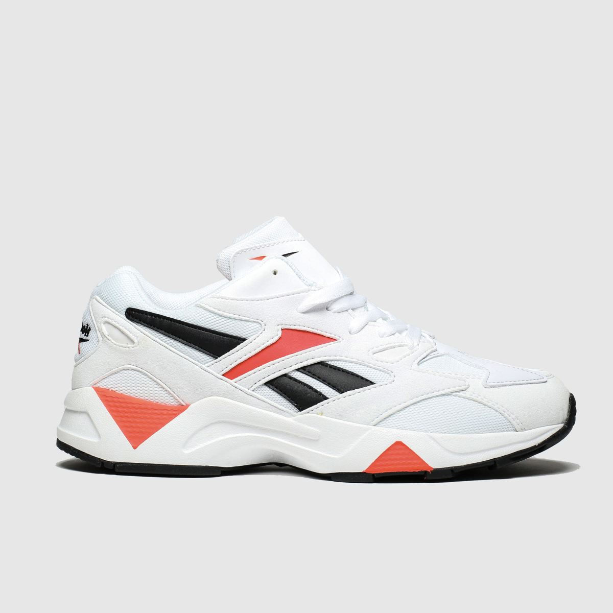 Reebok White & Red Aztrek 96 Reinvented Trainers