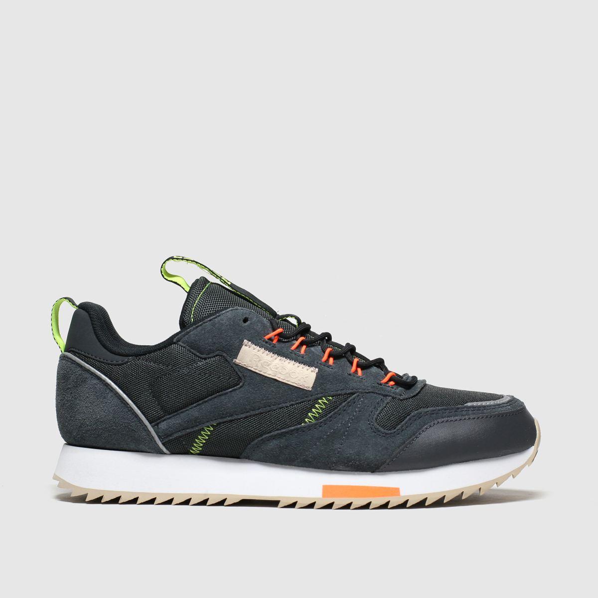 Reebok Dark Grey Classic Leather Ripple Trail Trainers