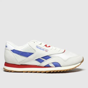 Reebok White & Red Nylon Ripple Mens Trainers