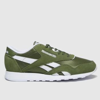 Reebok Green Cl Nylon Mens Trainers