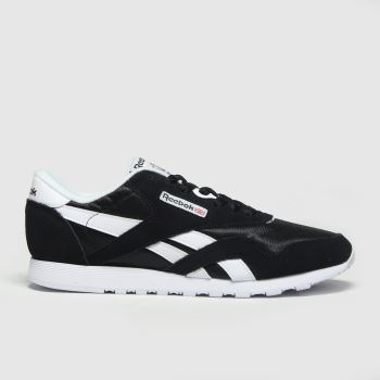 Reebok Black & White Classic Nylon Mens Trainers