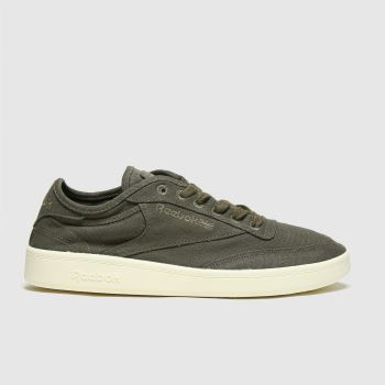 Reebok Khaki Club C C&c Mens Trainers