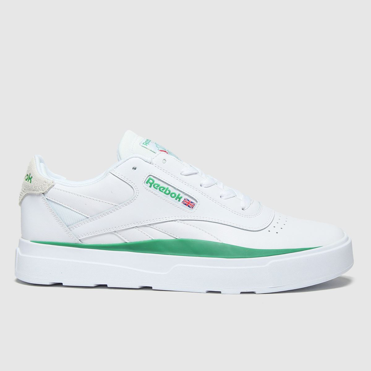 Reebok White & Green Legacy Court Trainers