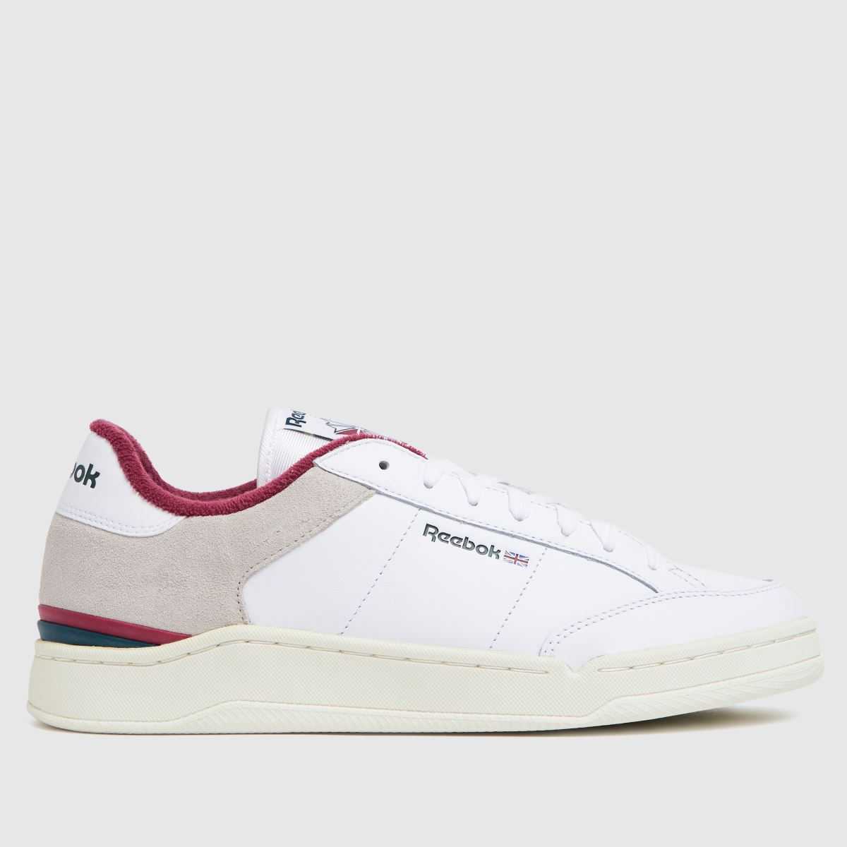 Reebok White Ad Court Trainers