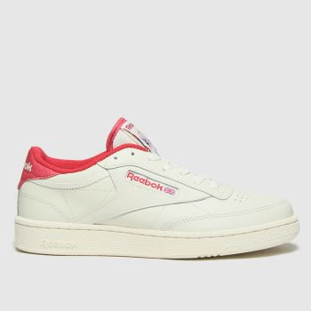 Reebok White & Red Club C 85 Mens Trainers