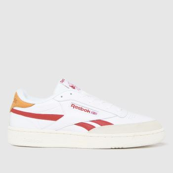 Reebok White & Red Club C Revenge Mens Trainers