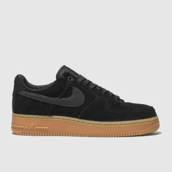 NIKE BLACK AIR FORCE 1 TRAINERS