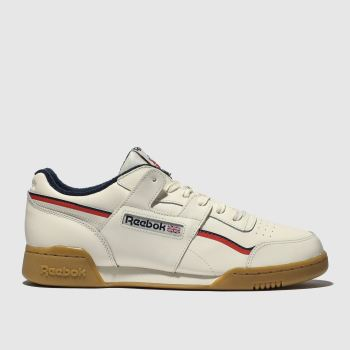 Reebok White & Navy Workout Plus Nt Mens Trainers