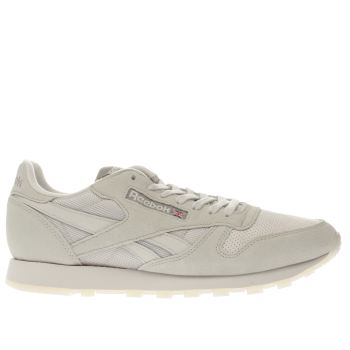 REEBOK BEIGE CLASSIC LEATHER TRAINERS