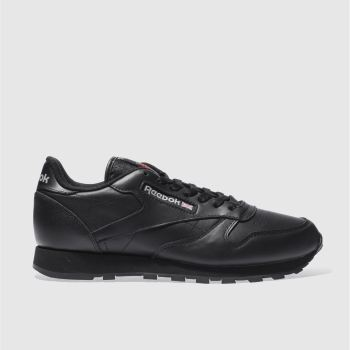 Reebok Black Classic Leather Mens Trainers
