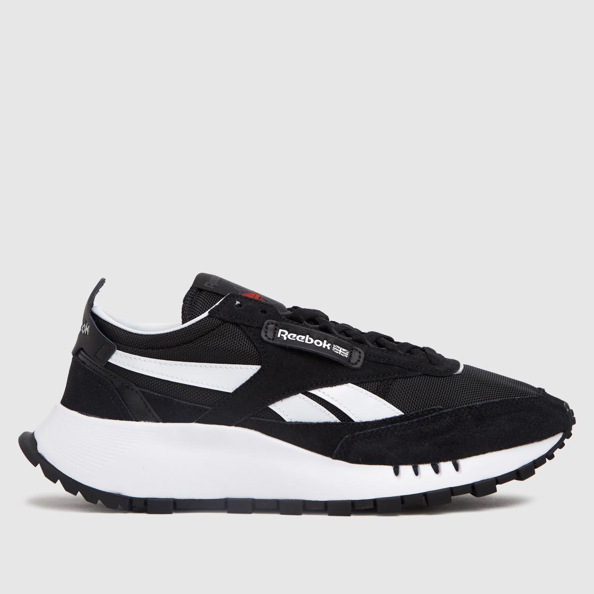 Reebok Black & White Cl Legacy Trainers