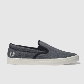 Fred Perry Navy & White Underspin Slip On Mens Trainers