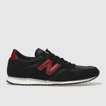 sports shoes aea3b 6f54c New Balance Black   Red 420 Mens Trainers