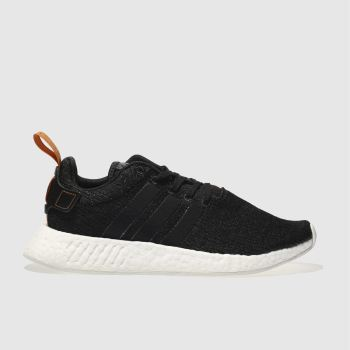 ADIDAS BLACK & WHITE NMD_R2 TRAINERS