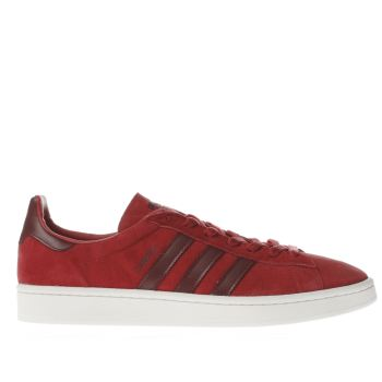 ADIDAS RED CAMPUS TRAINERS