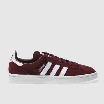 adidas Burgundy Campus Mens Trainers