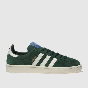 Adidas Dark Green Campus Mens Trainers