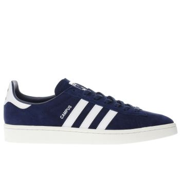 ADIDAS NAVY & WHITE CAMPUS TRAINERS