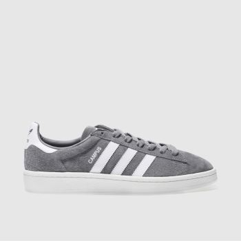 adidas Grey Campus Mens Trainers