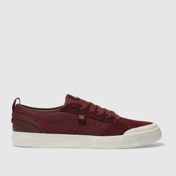 Dc Shoes Burgundy Evan Smith Mens Trainers