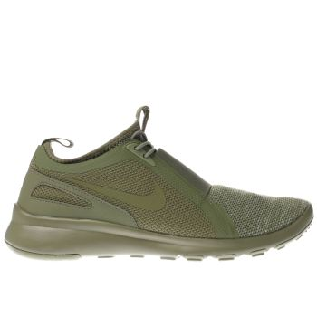 NIKE KHAKI CURRENT SLIP ON TRAINERS