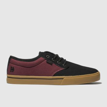 Etnies Black & Burgundy Jameson 2 Eco Mens Trainers