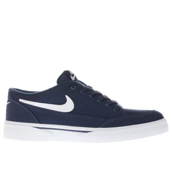 NIKE NAVY & WHITE GTS TRAINERS