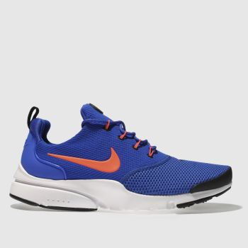 quality design d31d9 82156 NIKE BLUE  ORANGE PRESTO FLY TRAINERS
