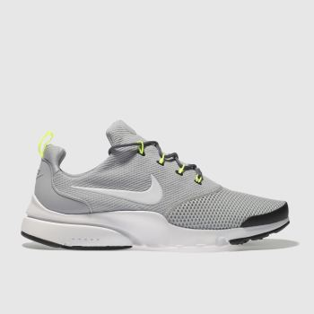 NIKE LIGHT GREY PRESTO FLY TRAINERS