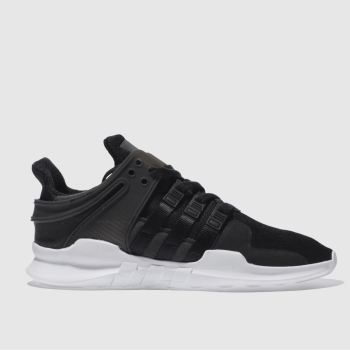 competitive price e8341 b9bca mens black adidas eqt support adv trainers | schuh